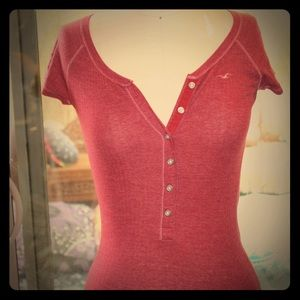 Hollister crop sleeve tee
